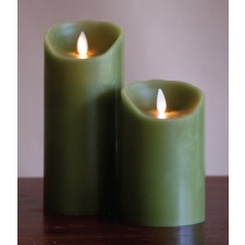 [LED 양초]FLAMELESS CANDLE GREEN DISTRESSED - 그린 [5인치]