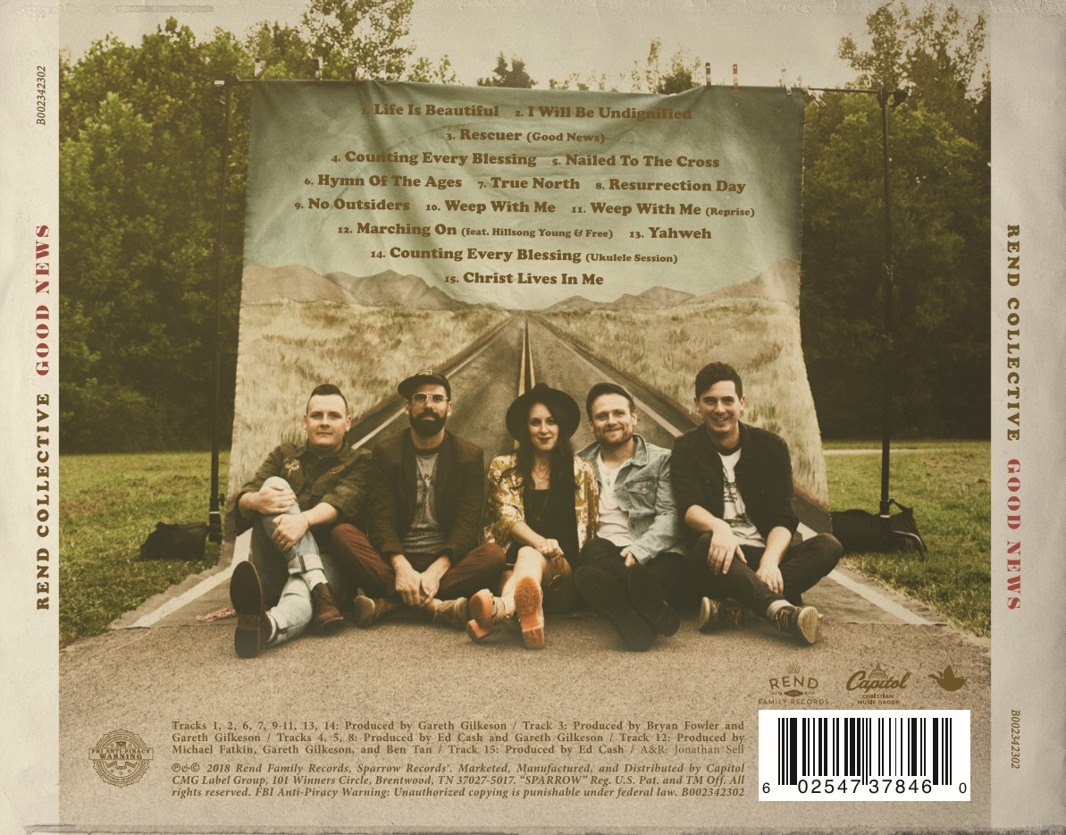 Rend Collective - Good News (CD) [1+1이벤트 - Songs 4 Worship - Hymns of The Ages (2CD) 증정]